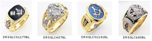 Masonic Blue Lodge Rings