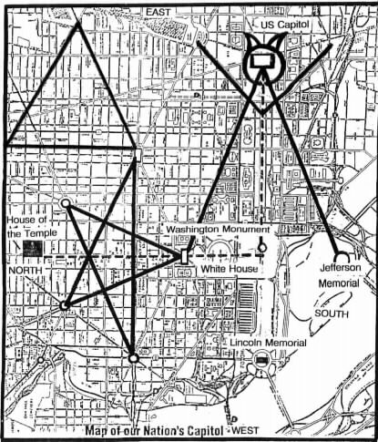 freemasonry map of washington secrets